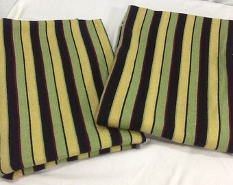 Vintage Deco Colored Stripped Fabric c. 1930 to 1950's