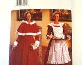 Butterick 6816 Misses Hooded Cape Long Dress Apron Christmas Costume Size 12 14 16 Uncut