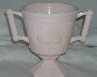 Jeannette Glass Shell Pink Baltimore Pear Sugar Bowl