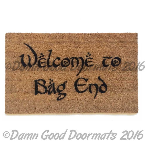 Bilbo welcome to bag end doormat tolkien outdoor geek stuff - Geeky doormats ...