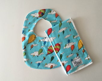 Bib and Burp Cloth Set. Oh The Places You'll Go