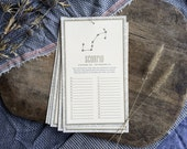 letterpress calendar for birthdays by astrological signs / zodiac ON SALE