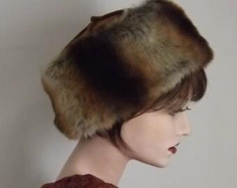 Ladies Brown Faux Fur Hat