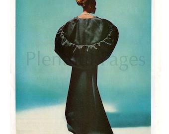 1966 Modess Vintage Ad, 1960's Fashion, Retro Fashion, 1960's Gown, Vintage Fashion, Advertising Art, Retro Gown, Great for Framing.