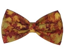 Fall Leaves Self Tie Bow Tie - Dog or Cat Bowtie - Clip on Bow Tie - Cross Tie - Hair Clip - Autumn Wedding