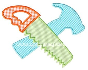 338 Saw and Hammer  Machine Embroidery Applique Design