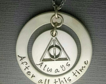 After all this time -  Always Harry Potter Inspired Hand Stamped Sterling Silver Necklace