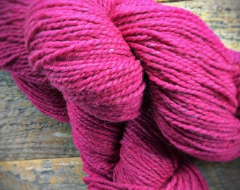 Pink hand knitting yarn - Peace Fleece worsted knitting wool yarn - Perestroika Pink - 2 ply yarn