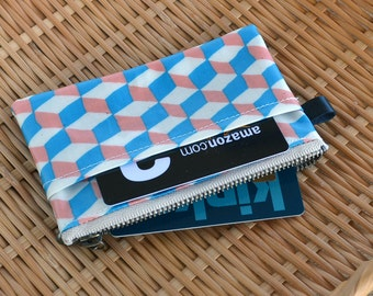 Oilcloth Card Wallet, Coin Purs, ID Wallet, Business Card Case - Matte Finish Geometric