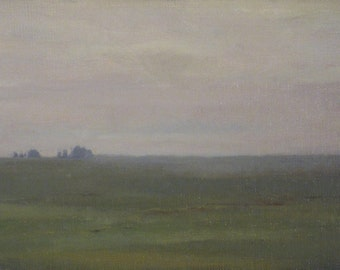 California Flatlands - framed - original oil landscape painting (LL08)