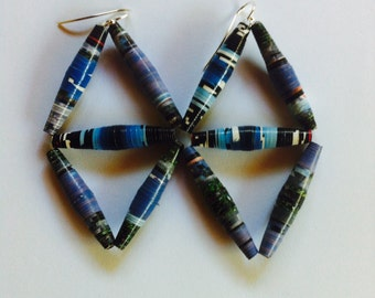 Clairely jewellery - Earrings - paper blue
