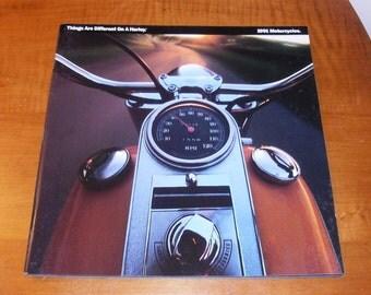 SALE Harley Davidson Sales Brochure 1991 or The Harley-Davidson Story