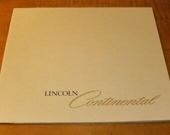 Lincoln Continental Sales Brochure 1978