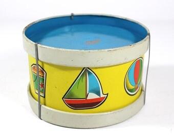 Toy Drum - Ohio Art Litho Tin