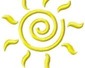 Sun Machine Embroidery Design Mini
