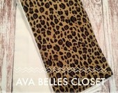 Leopard Burp Cloth