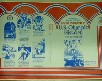 1970's US Olympics History Poster Book Covers Owens Foreman Sears - 30