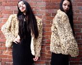 Vintage 60's Spotted Rabbit Fur Coat