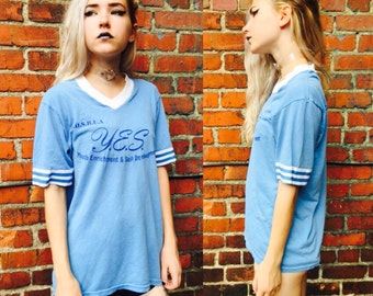 Vintage Blue Baseball Shirt