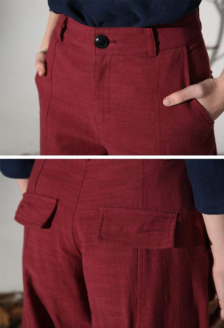 This casual pants is very loose, it can perfectly cover the defects in your legs, like sturdy leg, high waist desgin perfectly shown your slim body. This women linen pants is suit for work, home and party, have difference style match with difference shirt. These chic Linen pants for women.