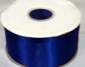 2.5 inch wide double faced satin ribbon roll Destash Wholesale 50 yds electric blue  wedding sewing bridesmaid bridal party sash bouquets