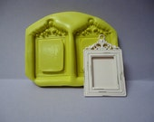 Set of 2 Picture Frame  Designs Food Grade Silicone Molds