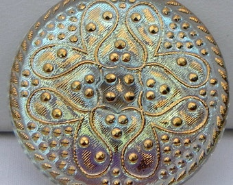 Byzantine Czech Glass Button