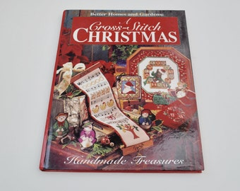 Vintage Christmas cross stitch pattern book stockings ornaments wreaths gifts by Better Homes and Gardens angels reindeer trout patterns