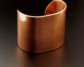 Solid Copper Bangle Blank - 2 inches wide - 14 gauge - 100% Guarantee