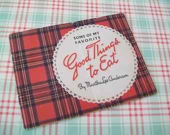 Recipe Booklet, 1940s, adorable, useful, decor, Martha Lee Anderson