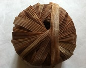 "Filati Europa Ribbon Rapture #2 Tans, Browns Ribbon Yarn 50gr 61yd x 3/8""w"