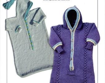 Knitting Pattern Pdf Baby Bunting Sleep Sack Drawstring