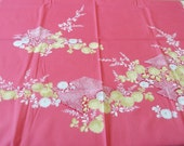 Pink Furoshiki With Flower Design Japanese Wrapping Cloth 一