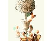 The Musicians, music, art, german angels, garden, white, peace, joyful, song, children, nursery