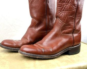Vintage Justin Women's Western Brown Cowboy Boots