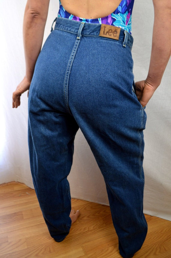 Vintage 80s Lee Harem High Waisted Denim Pleated By Rogueretro