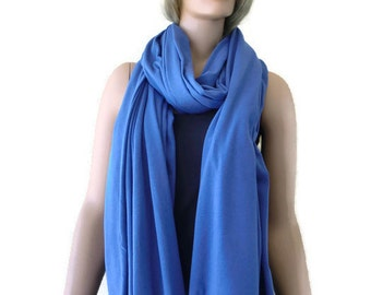 Denim Blue blanket style oversized cotton scarf Jumbo Nomad Rag  Unisex scarf- A textilemonster original