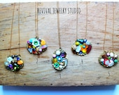 Colorful Assemblage Necklaces - Valentine's Day Gift