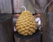 Honey Beeswax Pinecone Candle