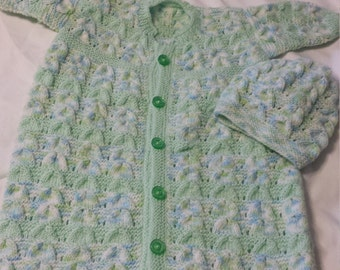 Vintage Baby Hand Made Knit Bunting Bag