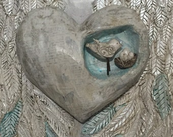 Angel Wings Wall Decor Winged Heart