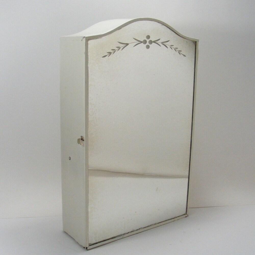 Metal Bathroom Cabinet with Etched Mirror Door Metal Medicine