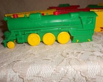 Plastic train Set 6 pieces