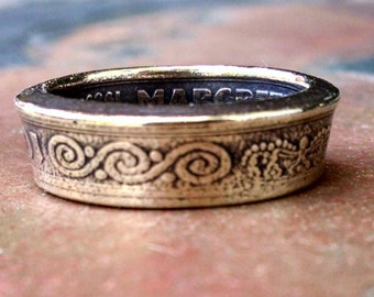 Denmark Coin Ring - 1989 Danish 10 Kroner Coin Ring - Size: 7 1/2
