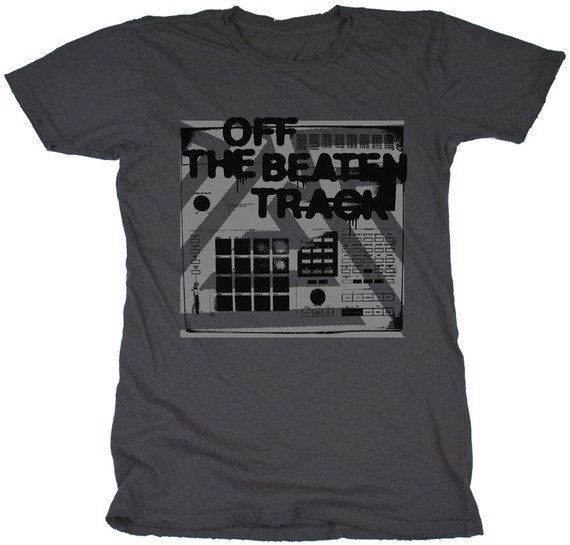 Off The Beaten Track, 100 Percent Cotton Vintage Grey T-shirt, womens