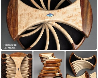 Rotating Jewelry Box; Secret Compartments;  Functional Art, 'The Helical Box'