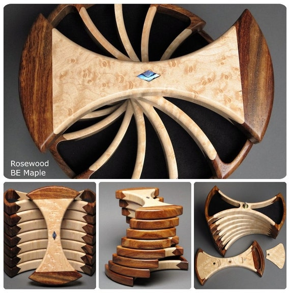 Rotating Jewelry Box with Secret Compartments;  Functional Art, 'The Helical Box'