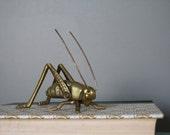 VIntage Brass Grasshopper/Cricket Insect Figurine