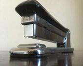Vintage Aceliner Black Stapler. Model 502. ACE Fastener Corp. Chicago, IL.