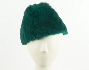 Green WINTER HAT for Women - Beaver Fur Hat - Russian Hat - Women's  Beret Hat - Women's Fedora Hat - Ladies Winter Hat - Womens Fur Hats